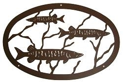 "24"" Oval Wall Art- Muskie Design-"