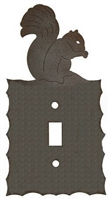 Electrical Switch Wall Plate- Squirrel Design
