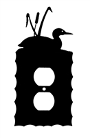 Electrical Outlet Wall Plate- Loon with Cattails Design