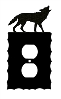 Electrical Outlet Wall Plate- Wolf Design