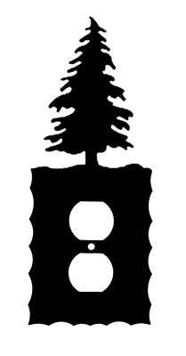 Electrical Outlet Wall Plate- Pine Tree Design