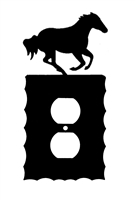 Electrical Outlet Wall Plate- Galloping Horse Design