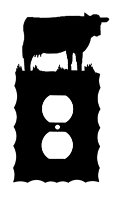 Electrical Outlet Wall Plate- Cow Design