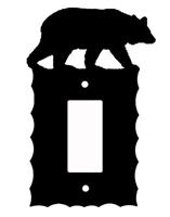 Electrical GFI/Rocker Wall Plate- Bear Design