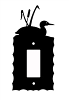 Electrical GFI/Rocker Wall Plate- Loon with Cattails Design