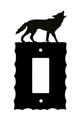Electrical GFI/Rocker Wall Plate- Wolf Design