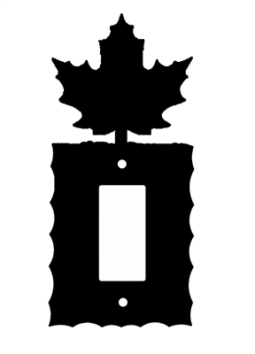 Electrical GFI/Rocker Wall Plate- Maple Leaf Design
