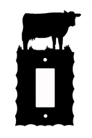 Electrical GFI/Rocker Wall Plate- Cow Design