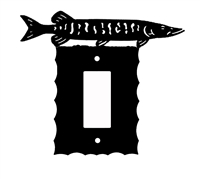 Electrical GFI/Rocker Wall Plate- Muskie Design