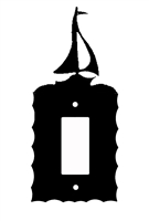 Electrical GFI/Rocker Wall Plate- Sailboat Design