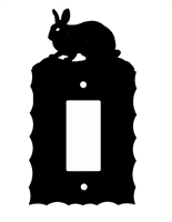 Electrical GFI/Rocker Wall Plate- Rabbit Design