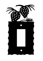 Electrical GFI/Rocker Wall Plate- Pinecone Design