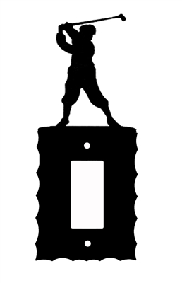 Electrical GFI/Rocker Wall Plate- Golfer Design