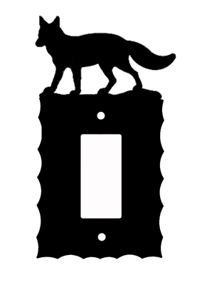 Electrical GFI/Rocker Wall Plate- Fox Design