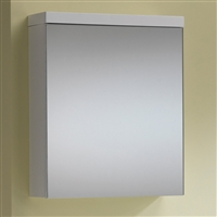 Eden 50 Mirrored Cabinet - 1 Door Gloss White