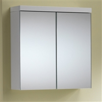 Eden 60 Mirrored Cabinet - 2 Doors Gloss White