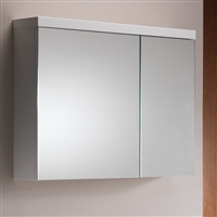 Eden 80 Mirrored Cabinet - 2 Doors Gloss White