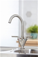 Olicana Brushed Stainless Finish Kitchen Tap
