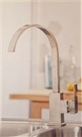 Rossi Brushed Stainless Finish Kitchen Tap
