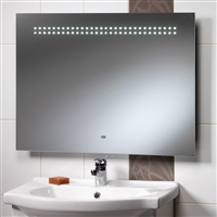 Western Mirror With Integrated LED Lights, Shaver Socket & Rear Anti-Mist Pad