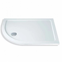 1000 x 800 x 40mm Offset Quadrant Shower Tray Left Hand