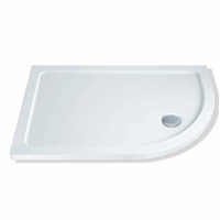 1000 x 800 x 40mm Offset Quadrant Shower Tray Right Hand