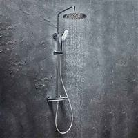 Messi Round Cool Touch Rigid Riser Shower