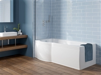 P Shape Shower Bath Right Hand 1700 x 850