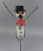 61-070 - Snowman with Wire Arms Stake / OS HEG