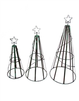 61-238 - Wire Christmas Tree 3pc Set - BET