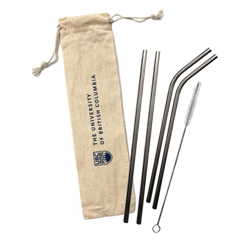18/8 Stainless Steel Straw Set - 5 Piece