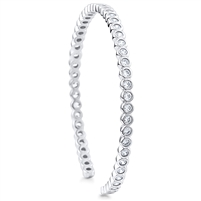 Silver Bangle with CZ