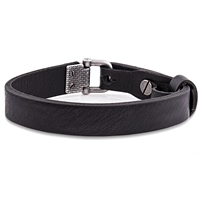 Alloy Black Leather Bracelet