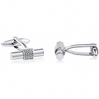 Brass Cufflink With Rhodium