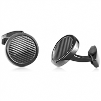 Brass Cufflink With Gray Color Rhodium Plated