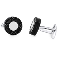 Brass Cufflink With Black Rhodium Plated