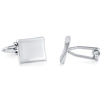 Brass Cufflink With Rhodium Plated