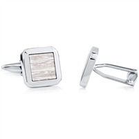 Brass Rhodium Plated Cufflink