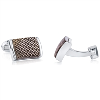 Brass Rhodium Plated Gun Fitting Cufflink