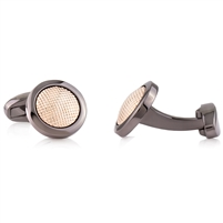 Brass Rhodium Black and Rose Gold Plated Cufflink