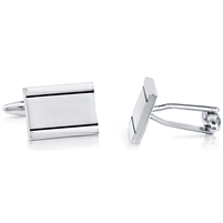 Brass Rhodium Black Enamel And Matte Cufflink