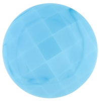Checker Cut Gemstone Turquoise- Coin