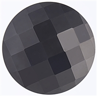 Checker Cut Gemstone Black Onyx- Coin