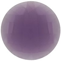 Checker Cut Gemstone Purple - Coin