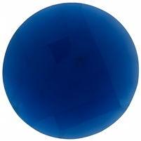 Checker Cut Gemstone Blue- Coin