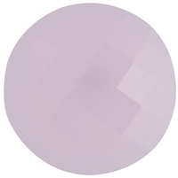 Checker Cut Gemstone Champagne Color- Coin