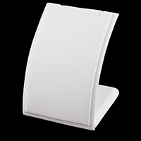 White Leatherette Pendant Display - Medium Size