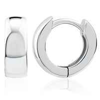 Plain Silver Huggy Earrings