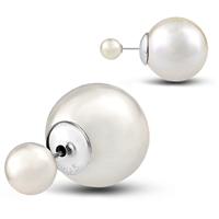 Nickel Free Sterling Silver and Faux Pearl. Plating Rhodium
