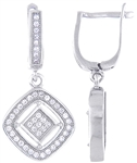 Silver Earring with Micro Set Cubic Zirconia
